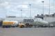 NORTHWEST AIRLINER AND SHELL FUEL TRUCK, SASKATOON