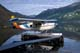 FLOATPLANE AT DOCK, TINCUP WILDERNESS LODGE