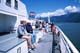 PEOPLE ON DECK OF B.C. FERRY TO VANCOUVER ISLAND