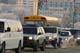 TRAFFIC LINE-UP ON UNIVERSITY BRIDGE IN WINTER, SASKATOON
