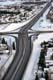 FREEWAY IN WINTER FROM ABOVE, CALGARY