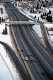 TRA ROA MIS  AB  BRH1800234D  VTFREEWAY IN WINTER FROM ABOVECALGARY                            01/27© BLAKE R. HYDE                ALL RIGHTS RESERVEDAB_;AERIAL;ALBERTA;AUTOS;CALGARY;FREEWAYS;PLAINS;PRAIRIES;ROADS;SNOW;STRUCTURES;TRAFFIC;TRANSPORTATION;URBAN;VTL;WINTERLONE PINE PHOTO              (306) 683-0889