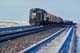 DIESEL ENGINE AND CARS ON TRACK IN WINTER, ALLAN