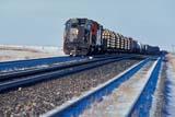TRA TRA MIS  SK   WS21894D   WINTERDIESEL ENGINE AND CARS ON TRACK IN WINTERALLAN                                01/..© WAYNE SHIELS                ALL RIGHTS RESERVEDALLAN;DIESEL;ENGINES;LOCOMOTIVES;PLAINS;PRAIRIES;RAIL;RAILROADS;SASKATCHEWAN;SK_;TRACKS;TRAINS;TRANSPORTATION;WINTERLONE PINE PHOTO              (306) 683-0889