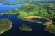 AERIAL OF LAKES AND BOREAL FOREST, CHURCHILL RIVER, LAC LA RONGE PROVINCIAL PARK