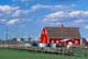 RED BARN AND FENCE, DAYSLAND