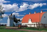 CAL AUT SCE  AB  CWN2207716DWHITE BARN, RED ROOF AND CLOUDSWETASKIWIN                      09..© CLARENCE W. NORRIS      ALL RIGHTS RESERVEDAB_;ALBERTA;AUTUMN;BARNS;BUILDINGS;CAL_AB;CALENDARS;CLOUDS;CUPOLAS;FARMING;FARMYARDS;FENCES;PLAINS;PRAIRIES;RURAL;SCENES;SKY;STRUCTURES;WETASKIWINLONE PINE PHOTO              (306) 683-0889