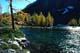 AUTUMN SHORELINE, GOAT HAUNT LAKE, PURCELL MOUNTAINS