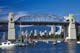 BOATS UNDER BURRARD BRIDGE, VANCOUVER