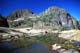 MT. SCHOEN REFLECTED IN WATER, VANCOUVER ISLAND, SCHOEN LAKE PROVINCIAL PARK
