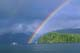 RAINBOW OVER SEAL COVE HARBOUR, AIRCRAFT LANDING, PRINCE RUPERT
