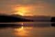 SUNRISE OVER BLACK FOREST ISLAND, LAKE JOSEPH