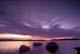 ROCKS AND SUNRISE ON LAKE, WINNANGE LAKE PROVINCIAL PARK