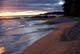 BEACH AT SUNSET, LAKE SUPERIOR PROVINCIAL PARK