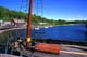 TALL SHIP TECUMSETH AT DOCK, DISCOVERY HARBOUR, PENETANGUISHENE