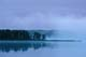 SUNRISE AND MIST OVER LAKE, OSKAR LAKE, TURTLE MOUNTAIN PROVINCIAL PARK