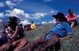 CAL FAR MIS  AB  DSR1000018D  MRTRAIL RIDERS LOUNGING IN GRASSPANTHER RIVERBANFF NATIONAL PK            08..© DUANE S. RADFORD          ALL RIGHTS RESERVEDAB_;ADVENTURE;ALBERTA;ALPINE;BANFF_NP;CAL_FARMING;CALENDARS;CORDILLERA;COWBOYS;GRASS;MALE;MR_;NP_;OUTDOORS;PANTHER_RIVER;SCENES;SUMMER;TRAIL_RIDES;WESTERNLONE PINE PHOTO              (306) 683-0889