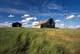 BARN AND WINDMILL IN SUMMER GRASS, KERROBERT