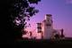 SASK WHEAT POOL ELEVATORS AT SUNSET, WAKAW