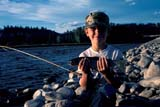 CAL FIS MIS  AB  DSR1000024DBOY WITH ELK RIVER RAINBOW TROUTSOUTH KOOTENAYS             07..© DUANE S. RADFORD          ALL RIGHTS RESERVEDAB_;ALBERTA;ALPINE;BOY;CAL_FISHING;CALENDARS;CHILDREN;CORDILLERA;FISHING;MR_;OUTDOORS;PEOPLE;RAINBOW_TROUT;SUMMER;TROUTLONE PINE PHOTO              (306) 683-0889