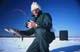ICE FISHERMAN WITH WHITEFISH, WABAMUN LAKE