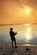 FISHERMAN ON SHORE, SUNSET SKY, PRINCE ALBERT NATIONAL PARK