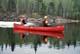 FISHERMEN, CANOE AND ICE, LAC LA RONGE PROVINCIAL PARK