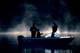FISHERMEN IN BOAT, MORNING FOG, MEADOW LAKE PROVINCIAL PARK