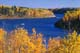 BOATING ON SASKATCHEWAN RIVER IN AUTUMN, NIPAWIN