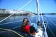 GIRL ON DECK OF THE ECOLOGIC YACHT, GULF ISLANDS