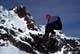 SNOWBOARDER RIDING HIGH, HAINTE RANGE