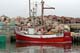 BIG RED, FISHING BOAT AT DOCK, ST. BRIDE'S HARBOUR