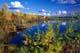 FALL COLOURS AT SHELL LAKE, INUVIK
