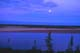 MOONRISE OVER RIVER AT LOOKOUT POINT, THELON RIVER