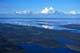 AERIAL VIEW OF SHORELINE, LAKE AND CLOUDS, KASBA LAKE