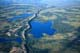 AERIAL VIEW OF ESKER AND LAKE, NORTHWEST TERRITORIES