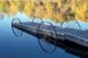 FALL REFLECTIONS AND DOCK, LAC LA PECHE
