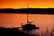 SAILBOAT IN AFTERGLOW, REDBERRY LAKE