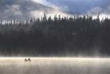 CAL AUT SCE  YT  PEH04HI090DX  CANOE IN MIST ON LAKEHIDDEN LAKE                        ....© PHIL HOFFMAN                ALL RIGHTS RESERVEDACTIVITIES;AUTUMN;BOREAL;CAL_YT;CALENDARS;CANOEING;CORDILLERA;COTTAGE;ELEMENTS;HIDDEN_LAKE;LAKES;MIST;OUTDOORS;PEOPLE;SCENES;YT_;YUKONLONE PINE PHOTO              (306) 683-0889