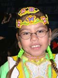 CUL NAT POW  SK  CWN02D4215D  NMR  VT        ABORIGINAL GIRL IN COSTUME AT POW WOW SASKATOON                       1019© CLARENCE W. NORRIS      ALL RIGHTS RESERVEDABORIGINAL;BEADS;CHILDREN;CLOTHING;COSTUMES;CULTURE;DANCE;FEMALE;FIRST;FIRST_NATIONS;GIRL;GLASSES;NATIONS;PEOPLE;PLAINS;POW;POW_WOW;PRAIRIES;SASKATCHEWAN;SASKATOON;SK_;VTL;WOWLONE PINE PHOTO              (306) 683-0889
