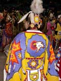 CUL NAT POW  SK  CWN02D4225D      BEADED EAGLE ON POW WOW COSTUMESASKATOON                       1019© CLARENCE W. NORRIS      ALL RIGHTS RESERVEDABORIGINAL;BEADS;CLOTHING;COSTUMES;CRAFTS;CULTURE;DANCE;EAGLES;FIRST;FIRST_NATIONS;NATIONS;PEOPLE;PLAINS;POW;POW_WOW;PRAIRIES;SASKATCHEWAN;SASKATOON;SK_;VTL;WOWLONE PINE PHOTO              (306) 683-0889