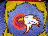 CUL NAT POW  SK  CWN02D4228D      CLOSE-UP OF BEADED EAGLE ON POW WOW COSTUMESASKATOON                       1019© CLARENCE W. NORRIS      ALL RIGHTS RESERVEDABORIGINAL;BEADS;CLOTHING;COSTUMES;CRAFTS;CULTURE;DANCE;EAGLES;FIRST;FIRST_NATIONS;NATIONS;PEOPLE;PLAINS;POW;POW_WOW;PRAIRIES;SASKATCHEWAN;SASKATOON;SK_;WOWLONE PINE PHOTO              (306) 683-0889