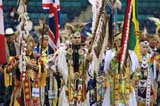 CUL NAT POW  SK  WDS05E7917DX ABORIGINAL MALE DANCERS AT POW WOW2005 CULTURAL CELEBRATION & POW WOWSASKATOON                     ....© WAYNE SHIELS               ALL RIGHTS RESERVEDABORIGINAL;CLOTHING;COSTUMES;CULTURE;DANCE;FIRST;FIRST_NATIONS;GROUPS;INDOORS;MALE;NATIONS;NUMBERS;PEOPLE;PLAINS;POW;POW_WOW;PRAIRIES;SASKATCHEWAN;SASKATOON;SK_;WOWLONE PINE PHOTO              (306) 683-0889