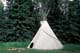 TEEPEE IN SUMMER, ROCKY MOUNTAIN HOUSE NATIONAL HISTORIC SITE