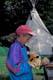 GIRL HOLDING FOX PELT, ROCKY MOUNTAIN HOUSE