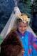 GIRL WEARING BUFFALO ROBE, ROCKY MOUNTAIN HOUSE