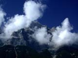 ELE CLO MIS  BC  CWN02D2163D   CLOUDS LIFTING OFF MOUNTAINSBANFF NATIONAL PARK            08..© CLARENCE W NORRIS           ALL RIGHTS RESERVEDAB_;ALBERTA;ALPINE;BANFF_NP;CLOUDS;CORDILLERA;ELEMENTS;MOUNTAINS;SCENES;SKY;SUMMER;WEATHERLONE PINE PHOTO                  (306) 683-0889.