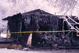ELE FIR BUI  SK   WS11450DBURNT OUT HOUSE IN FROSTLANGHAM                              02/23© WAYNE SHIELS                   ALL RIGHTS RESERVEDBUILDINGS;ELEMENTS;FIRE;HEAT;HOMES;INSURANCE;LANGHAM;PLAINS;PRAIRIES;SAFETY;SASKATCHEWAN;SK_;STRUCTURES;WINTERLONE PINE PHOTO                  (306) 683-0889