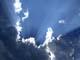 SUN RAYS FROM BEHIND STORM CLOUDS, SASKATOON