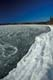 ICE FORMING ON LAKE SHORE, WASKESIU LAKE, PRINCE ALBERT NATIONAL PARK